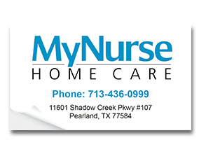 Home Care Sticker Samples