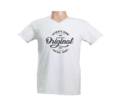 High-Quality Custom T-Shirt Printed on White
