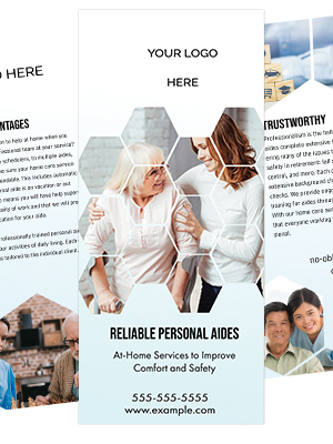Home Care Brochure Template - Stepping Stones