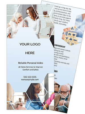 Home Care Rack Card Template - Stepping Stones