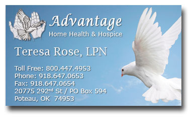 Home Health & Hospice Business Cards