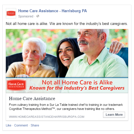 Home Care Facebook Advertising Sample