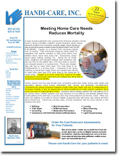 Private Duty Newsletters Sample 2